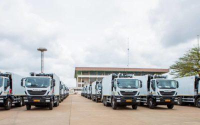 Assainissement des 5 Communes du Grand-Nokoué: Un 2ème lot de matériels roulants lourds remis à la SGDS-GN